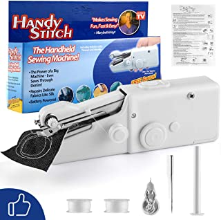 FIFADE Portable Sewing Machine, Mini Sewing Professional Cordless Sewing Handheld Electric Household Tool - Quick Stitch Tool for Fabric, Clothing, or Kids Cloth Home Travel Use