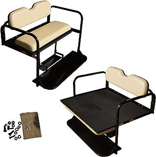 Performance Plus Carts Club Car Precedent Golf Cart Flip Folding Rear Back Seat Kit - Buff Cushions