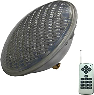 PAR56 LED Bombilla Lampara Par 56 LED 36W 12V AC piscina Iluminacion RGB IP68 LED Underwater Light Pond Lights (RGB con control remoto)