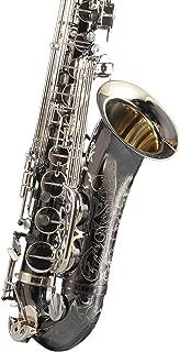 HIUHIU Tenor Saxophone Black Tenor Sax Top Professional Musical Instrument with Case