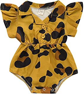 NEWLUK Baby Girl Romper,Jumpsuit Long-Sleeved Ruffled Solid Color Onesies