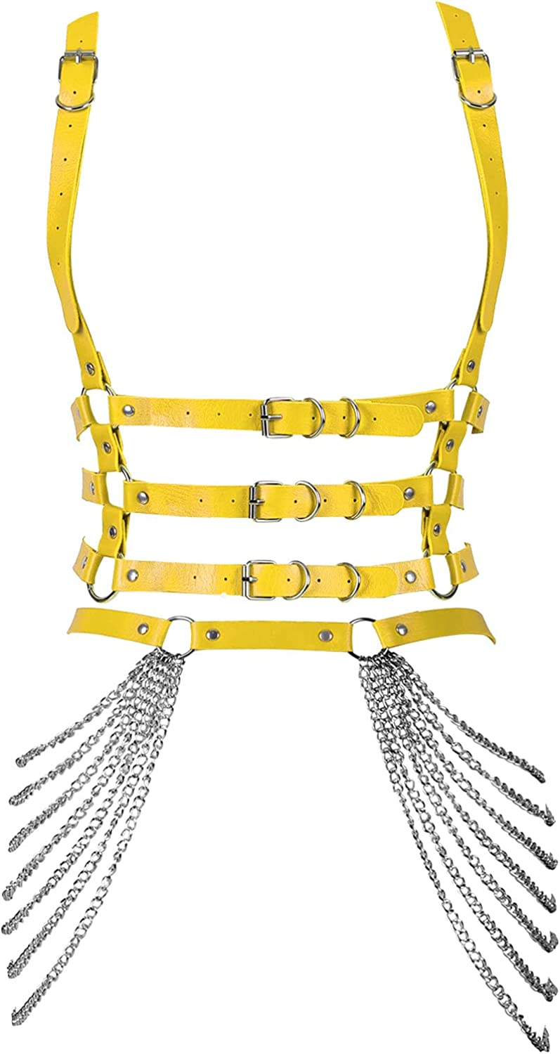 Leather Harness Spasm price Punk Waist Body Accessories Jewelry for Chain Selling Wo