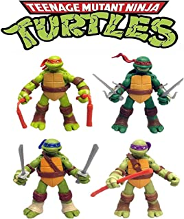 6 PCS Teenage Mutant Ninja Turtles 2nd Action Figures Toys Kid Gift