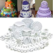 SYGA Flower Fondant Cake Sugarcraft Decorating Kit Combos (Cookie Cutter) Set of 33