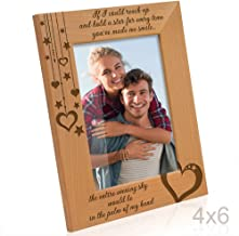 Kate Posh - If I Could Reach up and Hold a Star for Every time You've Made me Smile, The Entire Evening Sky Would be in The Palm of My Hand - Wood Picture Frame (4x6 Vertical)