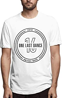 Men's Classic Solid Ultra Soft Cotton Crew Neck Dwyane Wade One Last Dance T-Shirt Multipack