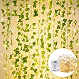 36 Ft. String Lights with Vines Battery Operated 12 Pcs 7 Ft....