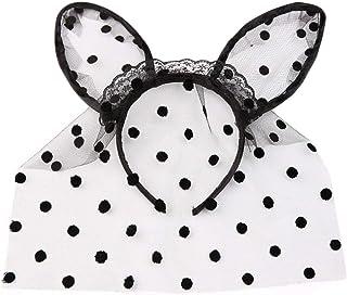 WANBAO Beautiful Crown Donne Polka DOT Mesh Veil Fascia Cat Rabbit Bunny Erers Ruffles Lace Black Hair Hoop Masquerade Cos...