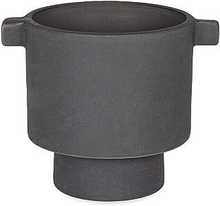 OYOY – Inka – Kana Pot – blomkruka – keramik – grå – stor S – (DxH) 10,5 x 10,5 cm
