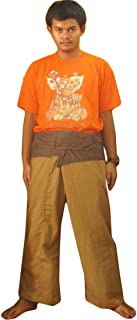 2 Tone Thai Fisherman Pants Yoga Trousers Free Size