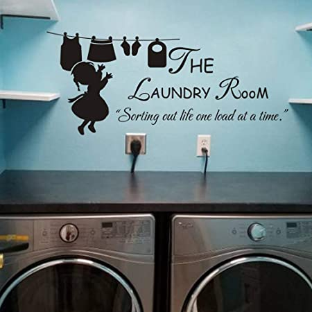 Laundry Room Sorting Life Out One Load at A Time Funny Sign and 6 Decals sp156