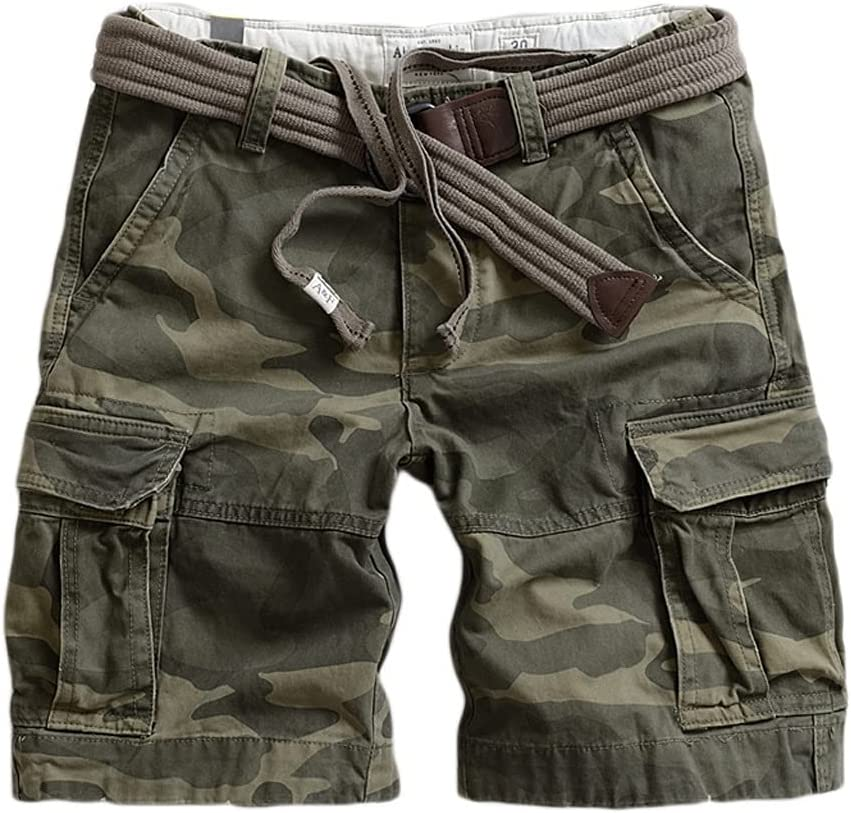 WXYPP Men's Outdoor Multi-Pocket Shorts Multi-Pocket Design Workwear Camouflage Shorts Plus Size Comfortable (Color : Color C, Size : 28)