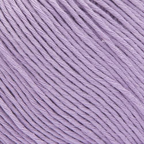 ggh Cottina, Farbe:005 - Helles Veilchen, 100% Baumwolle, 50g Wolle als Knäuel, Lauflänge ca.140m, Verbrauch 400g, Nadelstärke 3-4, Wolle zum Stricken und Häkeln