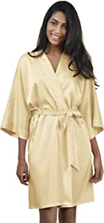 864032c85f AW Women s Bride Bridesmaid Kimono Robes Short Dressing Gown for Wedding  Party