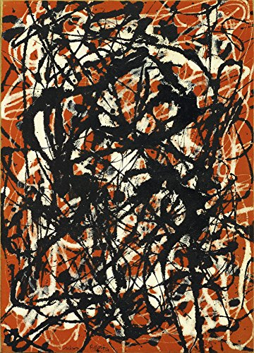 Berkin Arts Jackson Pollock Giclee Canvas Print Paintings Poster Reproduction (Free Form)