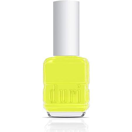 duri Nail Polish, 158N, Atomic, Neon Yellow Citrine shade, 0.5 fl.oz. 15 ml.