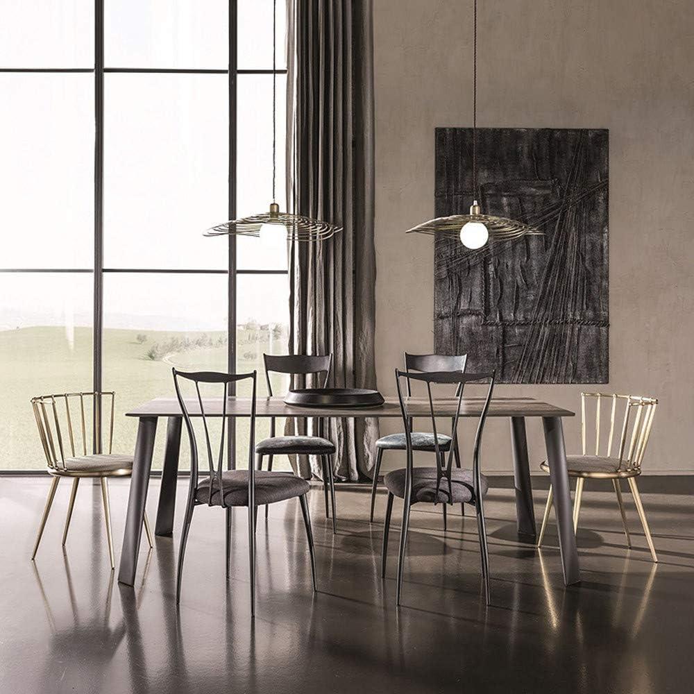 Tabouret Rond Chaise De Salle, avec Coussin Doux Et Jambes Dossier Métal Chaise, Moderne Minimaliste Design, pour Manger Salon & Cafe,Natural Yellow