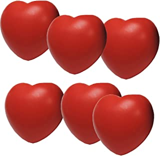 Stress Relief Squeezable Foam Heart Package of Six (6)