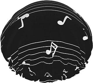 Dwuwarstwowa czapka prysznicowa, miłośnik muzyki dzieciństwo urocza ilustracja zwierzęca wielokrotnego użytku, wodoodporne...