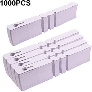 KINGLAKE 1000 Pcs White Plastic Plant Tree Tags Garden Plant Lables Plant Hanging Tags 2x20cm Wrap Around Nursery Garden Labels Large Writing Surface