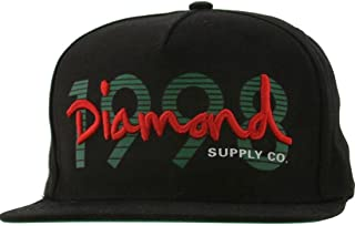 Diamond Supply Co Men's 1998 OG Script Snapback Cap Black Green Red