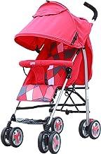 MEI XU Carriolas La Carretilla del bebé Puede Montar la luz del Paraguas de los niños La Carretilla Plegable del bebé Sillas de Paseo (Color : 1#)