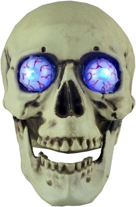 Plastic New Free Shipping Skull Head Luminous Eyes Halloween Colorado Springs Mall S Decor Skeleton