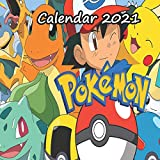 Pokemon Calendar 2021: Monthly Colorful Pokemon wall Calendar 2021, Great Gift For all Pokemon Lovers | 8.5x8.5 in | valentine s day gift for kids