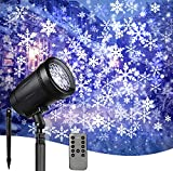 Chritsmas Clearance Outdoor Projector Lights Snowflake LED Lights with Remote Control Landscape Projection Light for Xmas/House/Patio/Garden/New Year Decorations -Big Blue Snowflake