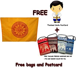 Buddhist flag 100% Polyester 19.68 x 29.52 Inch buddhist prayer flags +Gift From Thailand