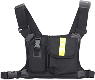 Marvogo Radio Chest Harness Chest Front Pack Pouch Holster Vest Rig for Two Way Radio Walkie Talkie(Rescue Essentials)