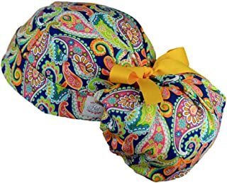 Womens Ponytail Surgical Scrub Hat Adjustable Large