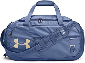 Under Armour Adult Undeniable Duffle 4.0 Gym Bag , Mineral Blue (470)/Metallic Faded Gold , Medium