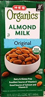HEB Organics Almond Milk, Original 32 Oz (Pack of 3)