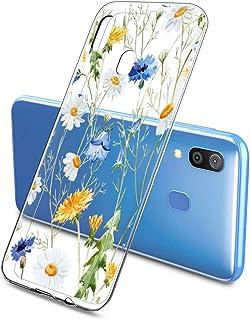 Suhctup Transparente Funda Compatible con Samsung Galaxy S6 Edge,Cárcasa Silicona Ultra Fina Flor Diseño Anti-Arañazos Antigolpes Bumper TPU Resistente Case Cover para Samsung Galaxy S6 Edge(4)