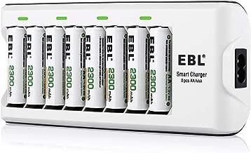 EBL 808A 8 Bay AA AAA Cargador de Pila con 8 Piezas de AA 2300mAh Ni-MH Baterías Recargables