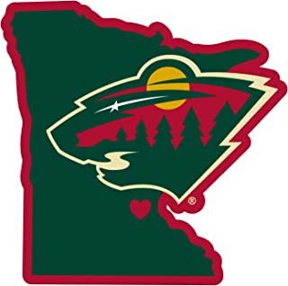FANMATS 17177 Team Color 6x12 NHL Minnesota Wild License Plate Inlaid