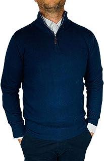 Fashion Moda Maglione Cardigan Uomo Classico Lana Cachemire Cotone Mezza Zip Cerniera Inverno Regular J1781