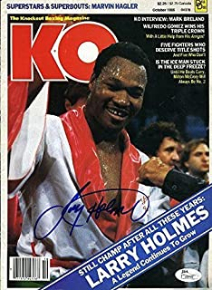 LARRY HOLMES JSA SIGNED KO MAGAZINE COVER AUTOGRAPH AUTHENTIC