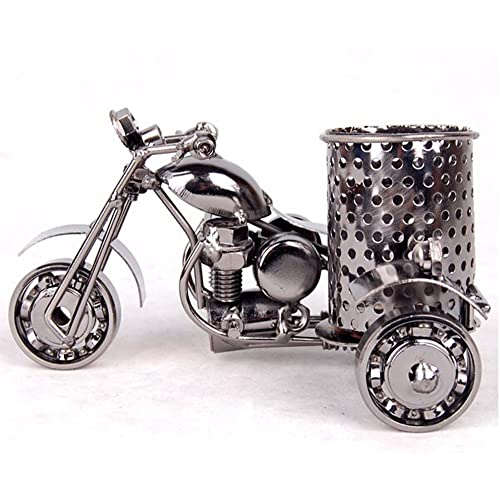 MYTANG Creative Office Desktop Storage Accessories,Harley The Motorcycle Loves Metal Pencil Pen Holder Black