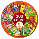 8. Mexican Candy Mix Assortment Bag (100 count) Bulk Candy Variety of Spicy, sour and sweet Dulces Mexicanos Gift Box, Best sellers Such as Lucas, Pelon, Duvalin, Rockaleta, salsaghetti, Pulparindo, Mazapan By Vexillum (Spicy)