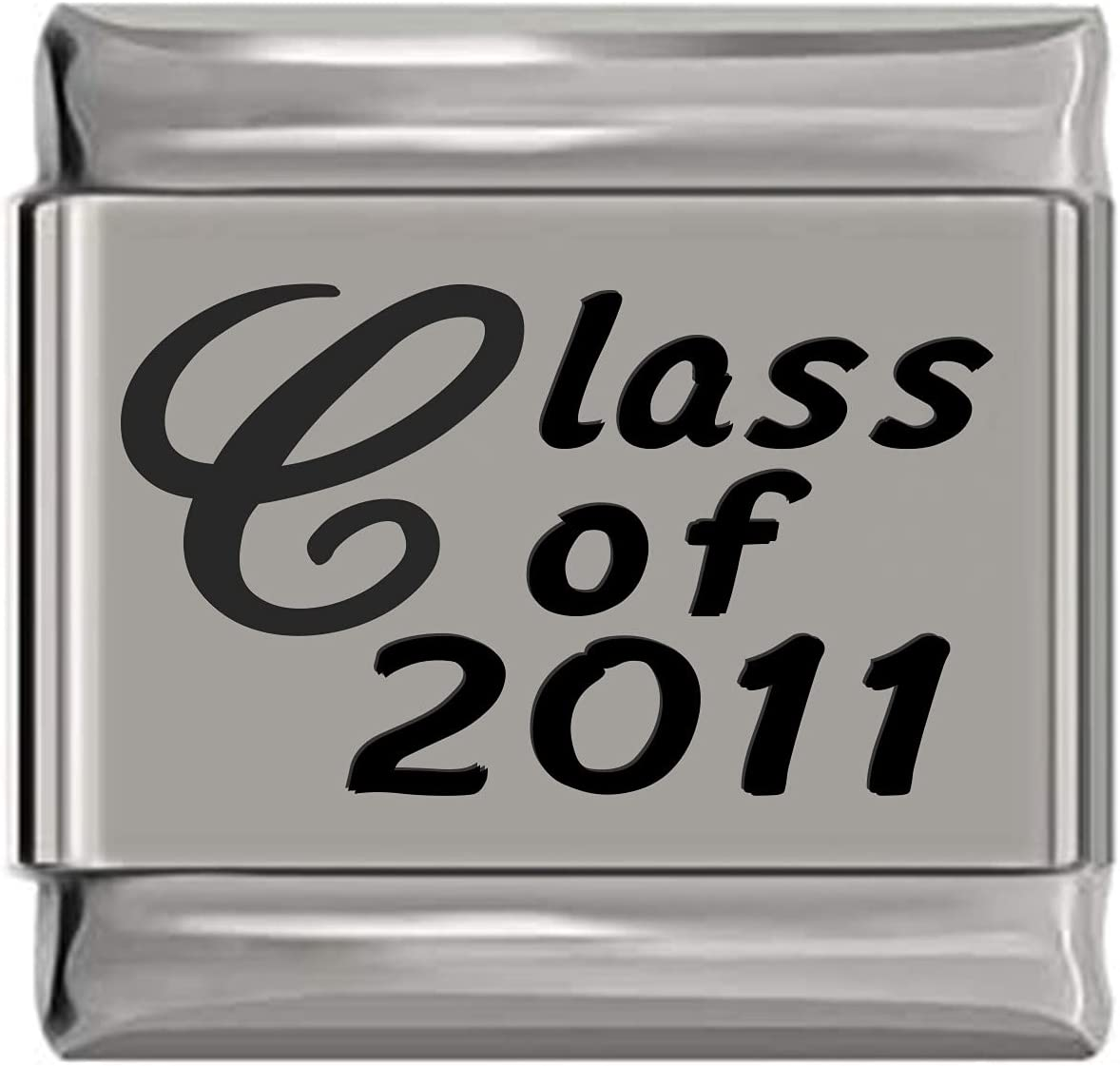 Class of 2011 Laser Directly Excellence managed store Engraved Italian Charm