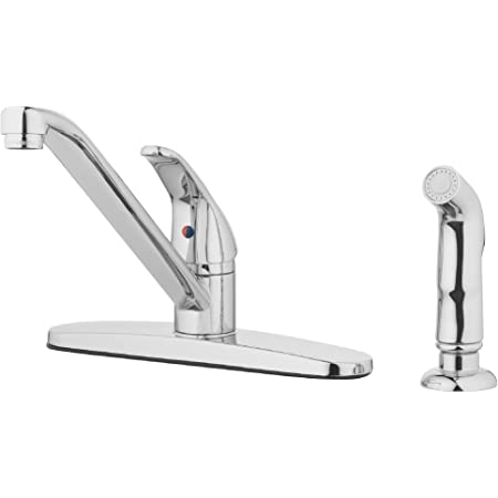 Peerless Single Handle Kitchen Sink Faucet With Side Sprayer Chrome P115lf Touch On Kitchen Sink Faucets
