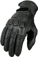 Bikers Gear Australia limitada piel Roadster–Guantes para motocicleta, talla XL, color negro