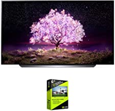 LG OLED83C1PUA 83 inch Class 4K Smart OLED TV with AI ThinQ (2021 Model) Bundle with Premium 4 Year Extended Protection Plan
