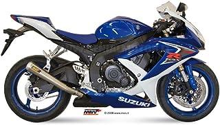 Mivv S.032.LP2 SUZUKI GSX-R 600 2008 / 2010 ESCAPE SLIP-ON X-CONE PLUS ACERO INOXIDABLE TAPA ALUMINIO