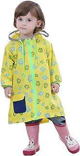 Meijunter Children Rainwear Zipper Rain Poncho Student Schoolbag Seat Raincoat