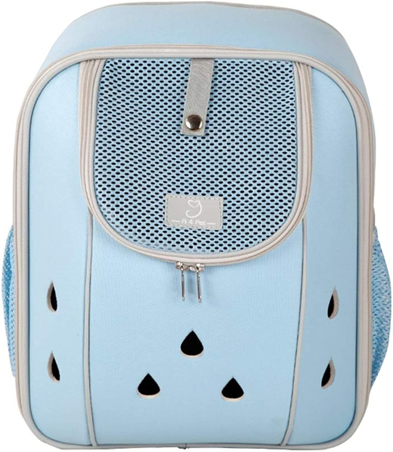DIAOSI Chongwubao Pet Backpack Cat Bag Out Portable Backpack Teddy Dog Backpack Cat Space Capsule Cat Backpack (color   bluee, Size   M)