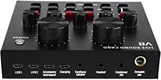Levende externe geluidskaart, Multifunctionele Levende Sound USB Audio Interface,Verstelbare Audio Mixer Card,met Multiple...