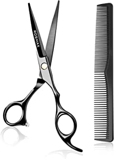 Rosmax Hair Cutting Scissors Professional Salon Barber Scissors,One Comb Included,for Man Woman Adults Kids Babies Cutting...